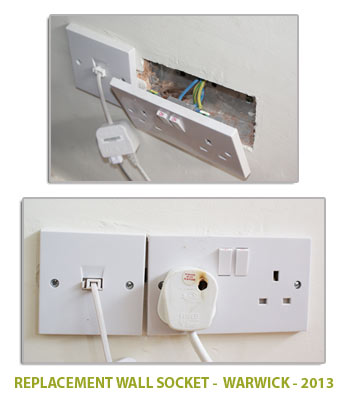 replacement wall socket in warwick